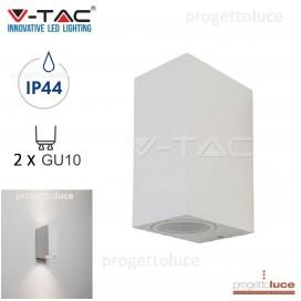 V-TAC VT-7652 PORTALAMPADA DOPPIA EMISSIONE DA MURO PER 2 GU10 IP44 APPLIQUE