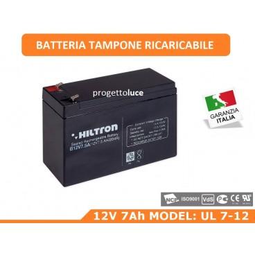 BATTERIA TAMPONE RICARICABILE ULTRA HILTRON 12V 7Ah CENTRALE ANTIFURTO ALLARME