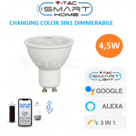 GU10 4.5W Wifi Smart LED 3in1 110° Lampadina per Echo Amazon Alexa Google Home