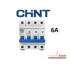 CHINT 180422 INTERRUTTORE MAGNETOTERMICO 4P 6A 6KA 4 MODULI DIN EX 51405