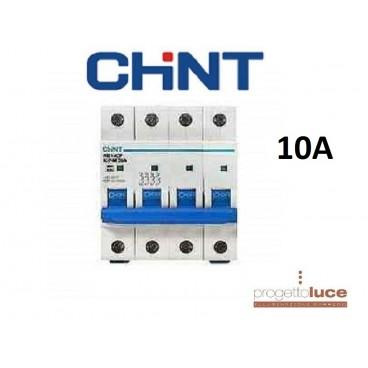 CHINT 180422 INTERRUTTORE MAGNETOTERMICO 4P 10A 6KA 4 MODULI DIN EX 51406