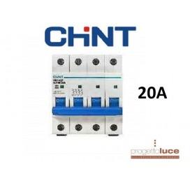 CHINT 180399 INTERRUTTORE MAGNETOTERMICO 4P 20A 6KA 4 MODULI DIN EX 51408