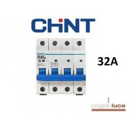 CHINT 180407 NTERRUTTORE MAGNETOTERMICO 4P 25A 6KA 4 MODULI DIN EX 51410