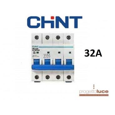 CHINT 180402 NTERRUTTORE MAGNETOTERMICO 4P 25A 6KA 4 MODULI DIN EX 51409