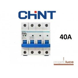CHINT 180412 INTERRUTTORE MAGNETOTERMICO QUADRIPOLARE 4P 40A EX 51411