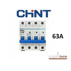 CHINT 180420 INTERRUTTORE AUTOMATICO MAGNETOTERMICO 4P 63A CURVA C 6KA DIN EX 51413
