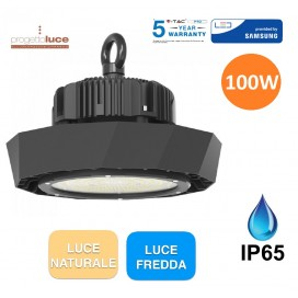 V-TAC PRO LAMPADA INDUSTRIALE LED UFO 100W SMD CHIP SAMSUNG IP65