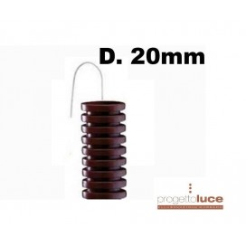 Tubo Corrugato MARRONE con tirafilo Diametro 20mm 100 METRI