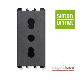 SIMON URMET 10303 PRESA BIVALENTE 10-16A NEA ANTRACITE
