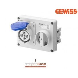 GEWISS GW66104 PRESA INTERBLOCCATA 2P+T IP44 SENZA CASSETTA