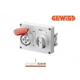 GEWISS GW66108 PRESA INTERBLOCCATA 3P+T 380V IP44 SENZA CASSETTA