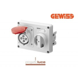 GEWISS GEW 66109 PRESA INTERBLOCCATA 3P+T+N 380V IP44 SENZA CASSETTA