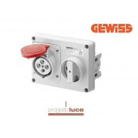 GEWISS GEW66119 PRESA INTERBLOCCATA 3P+T 32A IP44 380V SENZA CASSETTA