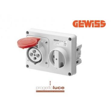 GEWISS GEW 66120 PRESA INTERBLOCCATA 3P+T+N 380V IP44 SENZA CASSETTA