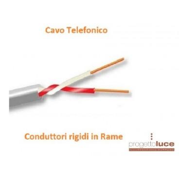 CAVO TELEFONICO TE1X2X0.6R 2 cavi 0,6mm CT1220 TELECOM PREZZO AL METRO