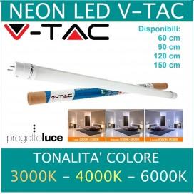 TUBO NEON LED V-Tac Tubo G13 T8 90 cm LUCE CALDA NATURALE FREDDA