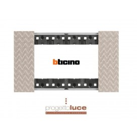 BTICINO KA4804MM PLACCA 4POSTI LIVING NOW COLORE OPTIC