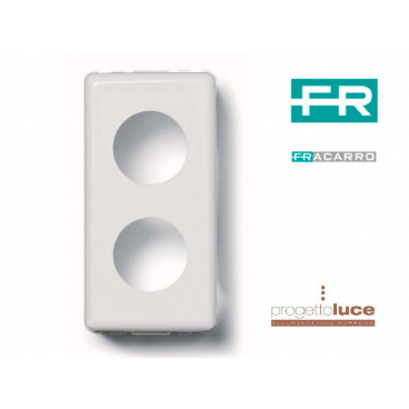 FRACARRO 280807 Adattatore per PDM00 Fracarro 2 fori Bticino Matix DEMISCELATA BIANCA