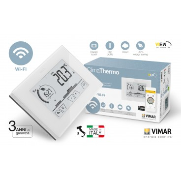 Vimar 02907 Cronotermostato WIFI Digitale Touch Screen parete Bianco tipo X8000
