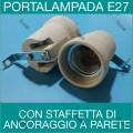 MASTER 00521 PORTALAMPADA IN CERAMICA E27 CON STAFFETTE A 90° PARETE SOFFITTO