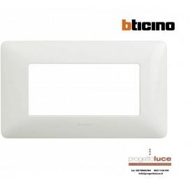 BTICINO AM4804BBN MATIX PLACCA 4 posti BIANCA Matix bianca