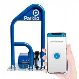 Barriera di parcheggio intelligente autoalimentato ricarica solare gestione smartphone Parklio