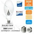 V-TAC LAMPADA LAMPADINA LED E27 36W PER LAMPIONI ADATTATORE E40 ANGOLO 360