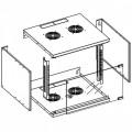 Techly Professional Armadio Rack 19'' a Muro 6U prof. 320 Grigio Assemblato