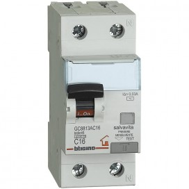 Bticino magnetotermico differenziale 1P+N 4,5KA 16A GC8813AC16