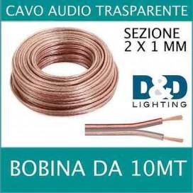 Cavo audio 2 x 1mm trasparente