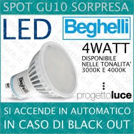 Beghelli Spot GU10 Sorpresa Emergenza