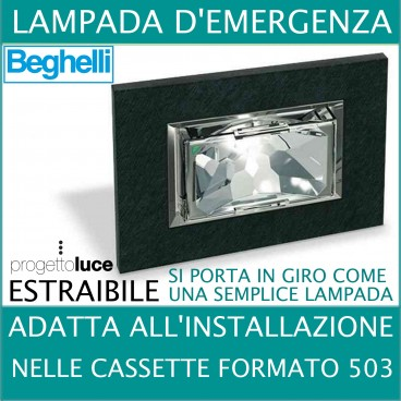 Lampade Emergenza Led Beghelli.Lampada Di Emergenza Led Ad Incasso In Cassetta 503 Estraibile