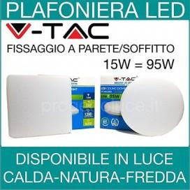 PANNELLO PLAFONIERA 15W V-TAC FARETTO FARO LED ROTONDO QUADRATO PER ESTERNO