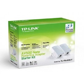 TP-LINK TL-PA4010KIT 2X500MBPS AV500 NANO POWERLINE ADAPTER STARTER KIT 2 PEZZI