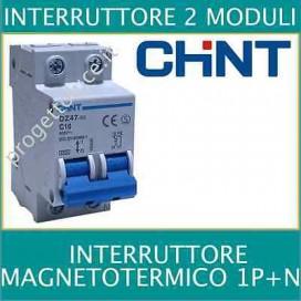 Chint 41224 INTERRUTTORE MAGNETOTERMICO 25A 1P+N 4,5KA 2 MOD.