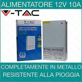 Alimentatore V-Tac Trasformatore 12V da 10A 120W Strisce LED Strip IP45