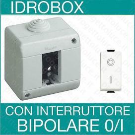 Bticino kit idrobox con presa, interruttore o interruttore bipolare serie Matix