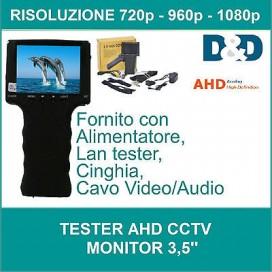 TESTER CCTV AHD 720P 960P 1080P TELECAMERA VIDEOSORVEGLIANZA MONITOR COLORI