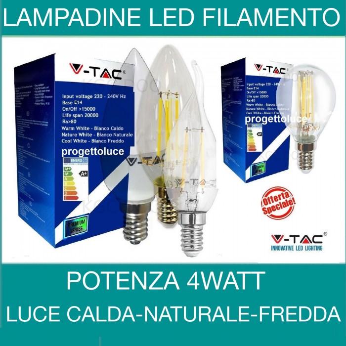 Lampadine led a filamento e14 sfera oliva fiamma tortiglione for Lampadine a filamento led
