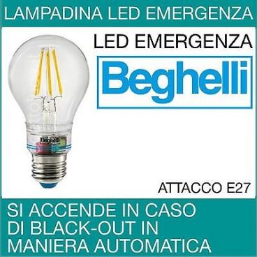 Lampade Emergenza Led Beghelli.Beghelli Lampada Led Anti Black Out Zafiro Emergenza 6w 230v E27 2700k