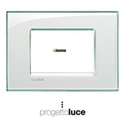 BTicino LNA4803KA Living Light placca 3 moduli Acquamarina