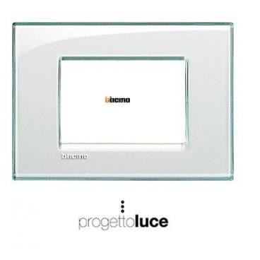 Bticino lna4803ka living light placca 3 moduli acquamarina progetto luce s r l - Interruttori living light ...