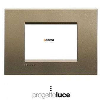 Bticino living light placca quadra 3 moduli square lna4803sq progetto luce s r l - Interruttori living light ...