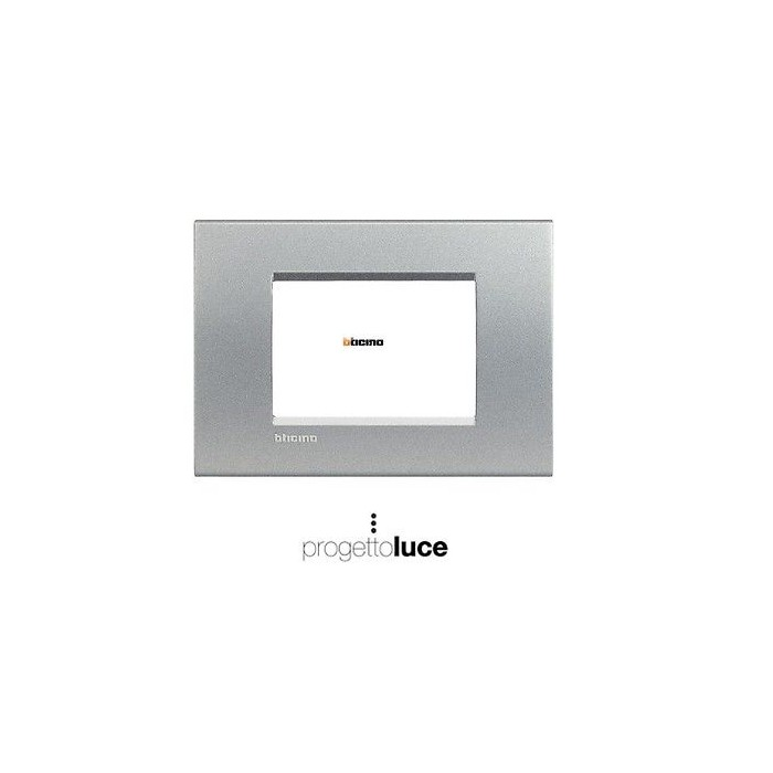 Bticino living light placca quadra 3 moduli tech lna4803te - Interruttori living light ...