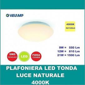 PLAFONIERA LAMPADA LED APPLIQUE Soffitto tonda da 9 a 21w Pannello Naturale