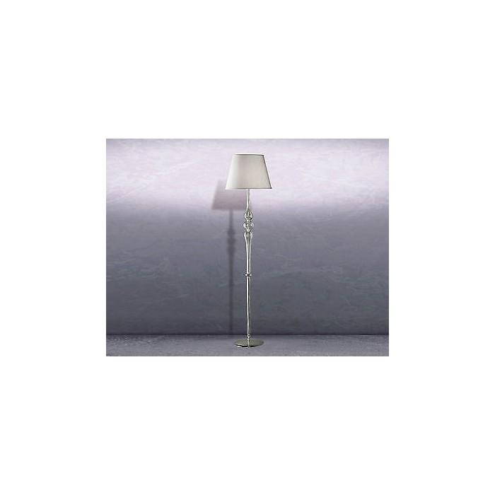 Leucos Cheope lampada da terra in cristallo con paralume in tessuto