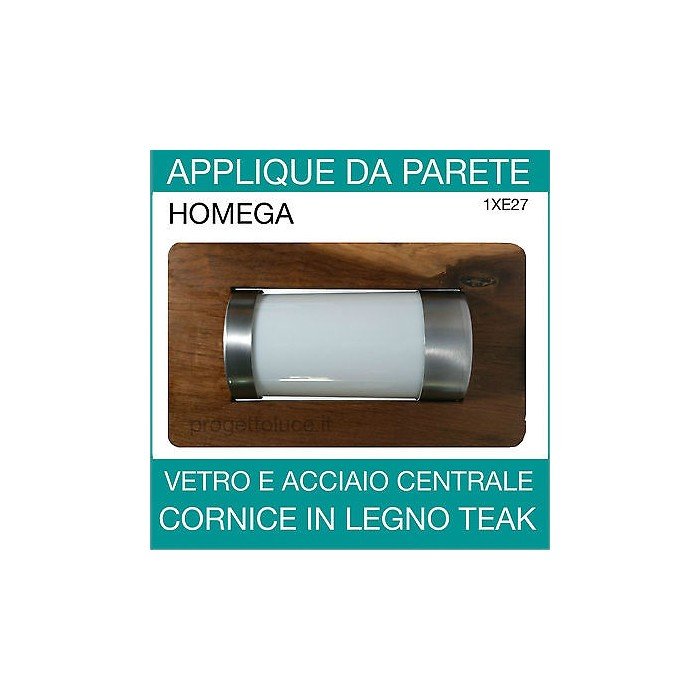 Applique parete 39 nautica 39 70w homega 41504 lanterna da for Applique da interno