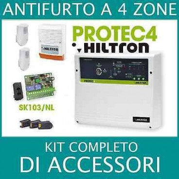 Antifurto allarme 4 zone kit completo di accessori cia for Kit allarme filare urmet