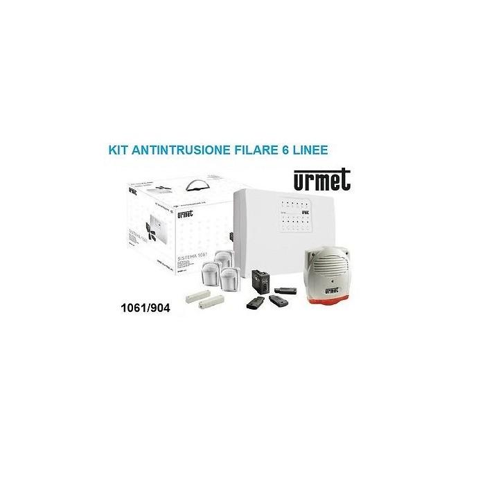 Urmet kit antifurto centrale 6 linee rilevatori kit chiave for Kit allarme filare urmet