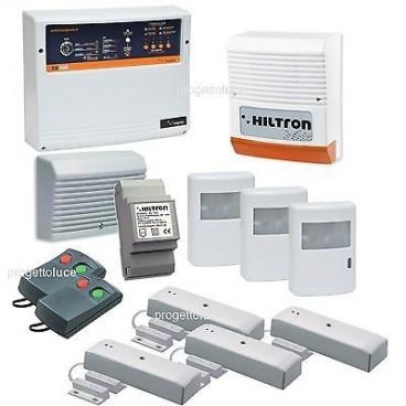Antifurto allarme hiltron kit wireless senza fili centrale via radio garanzi progetto luce s r l - Antifurti casa senza fili ...